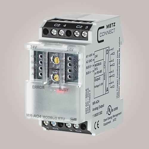 METZ CONNECT MR-AO4 Modbus Udgangsmodul 4x 0-10V